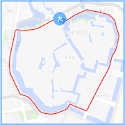 皇居ラン約5キロコース:代官町交差点
