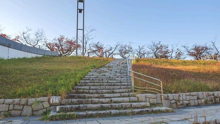 桜橋への階段