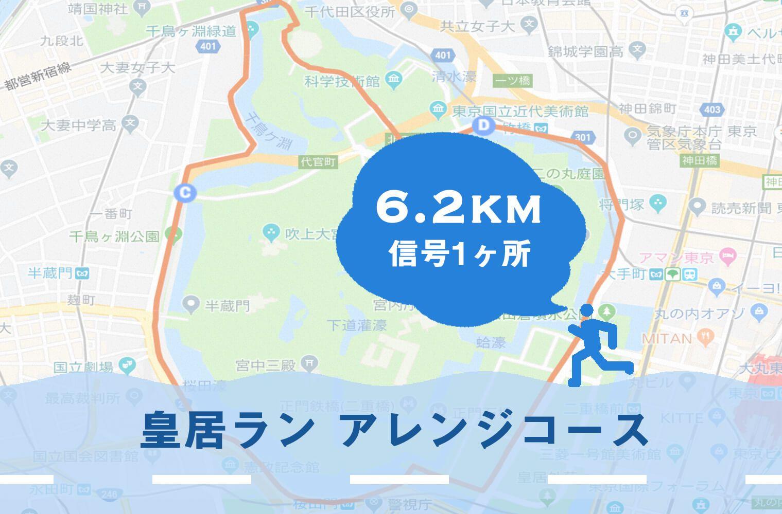 約6.2kmの皇居ラン アレンジランニングコースの写真付きガイド