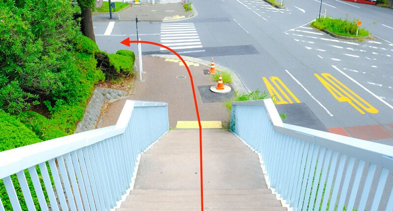 7.8kmの皇居ラン アレンジランニングコースガイド 地図:代官町歩道橋後