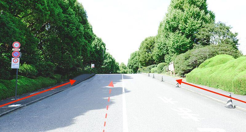 6.2kmの皇居ラン アレンジランニングコースガイド 北の丸公園入り口の坂