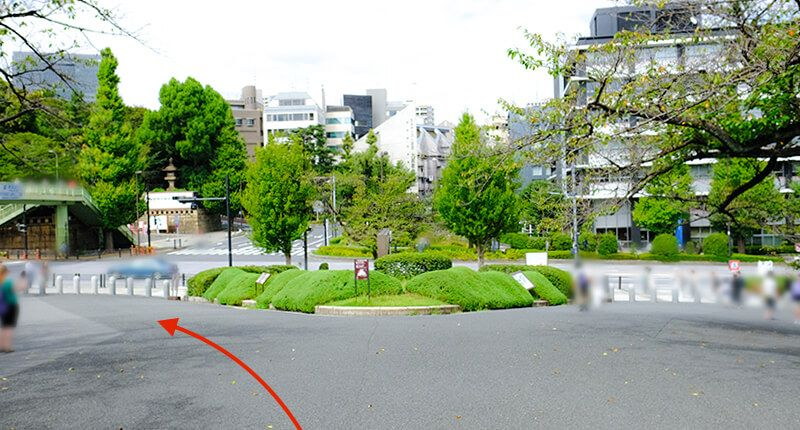 7.8kmの皇居ラン アレンジランニングコースガイド 北の丸入り口広場