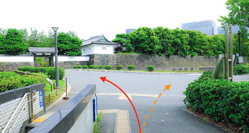 6km弱の皇居ラン アレンジランニングコースガイド  桜田門分岐