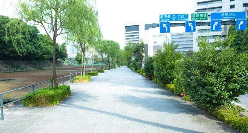7.8kmの皇居ランニングコースガイド 竹橋へ