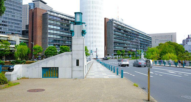 7.2kmの皇居ランニングコースガイド 竹橋交差点手前