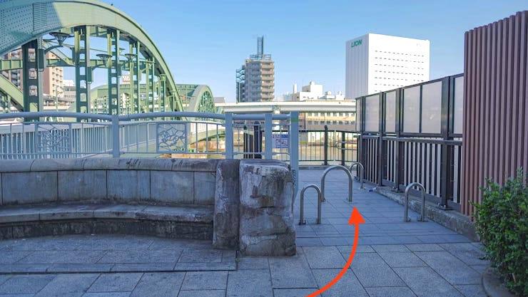 厩橋〜隅田川テラスへ