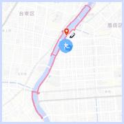 隅田川ランニングコース10km:駒形橋付近