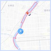 隅田川ランニングコース10km: THE GATE HOTEL 両国付近
