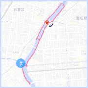 隅田川ランニングコース10km:両国橋