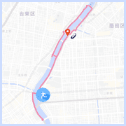 隅田川ランニングコース10km:両国橋付近
