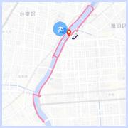 隅田川ラン10キロコース:吾妻橋付近