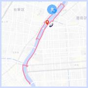 隅田川ラン10キロコース:言問橋付近