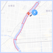 隅田川ランニングコース10km:すみだリバーウォーク付近